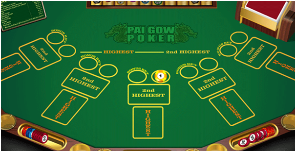 Bonanza Pai Gow Poker Table