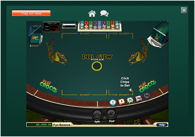 Guide to play Pai Gow at new Play  Croco casino