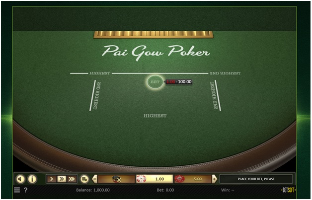 Guide to play Pai Gow from Betsoft