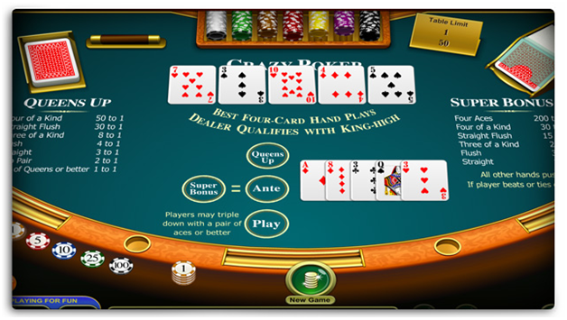 Hand rankings in Four Card Poker
