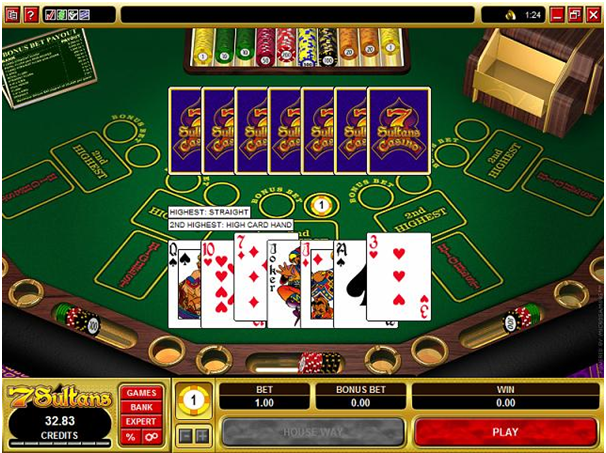 How to play Bonus Pai Gow Poker