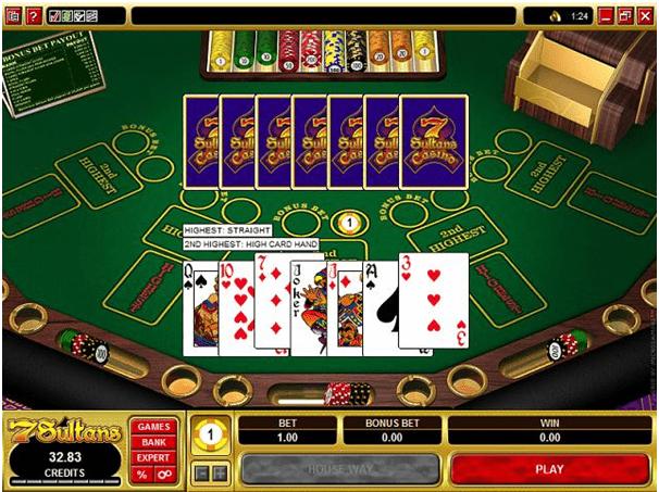 How to play Bonus Pai Gow Poker