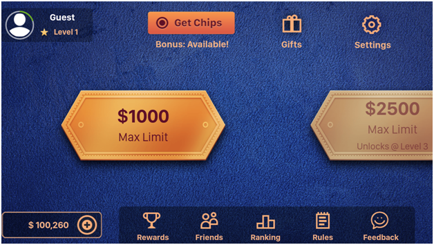 Pai Gow poker casino app features
