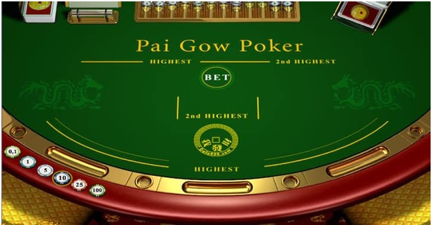 Pai Gow Poker table online