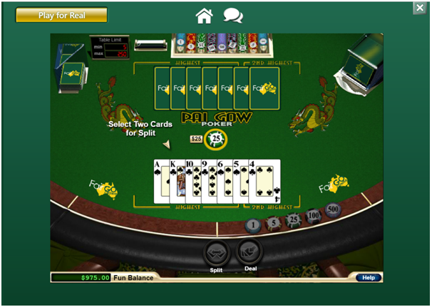 Pai Gow at online casino in real AUD