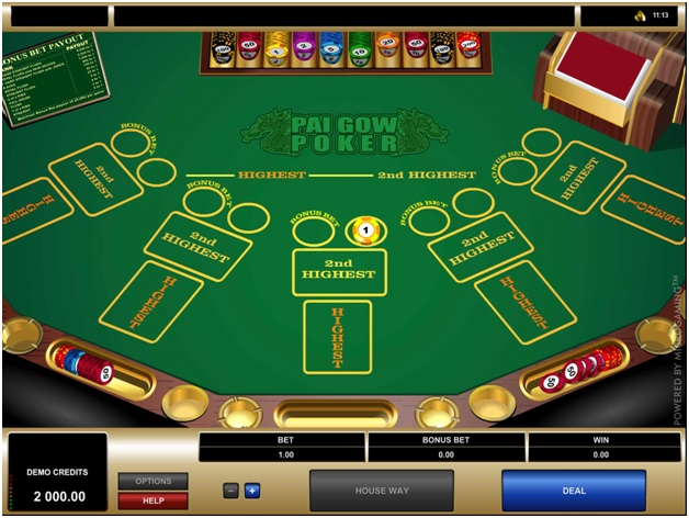 Pai Gow poker from Microgaming