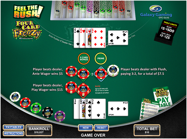 Four Card Progressive Jackpot