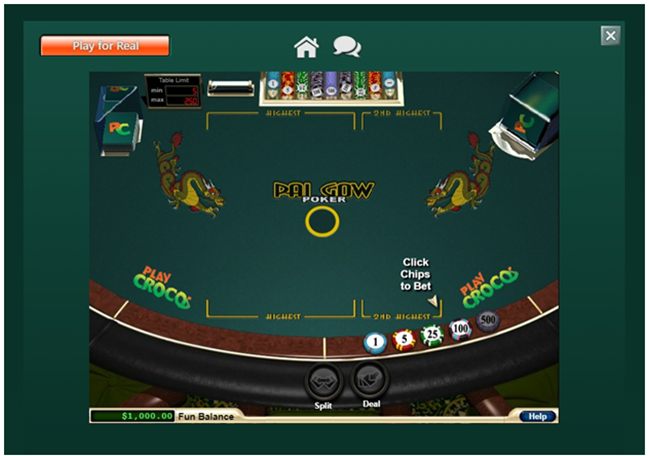 Where to play real money Pai Gow Poker?