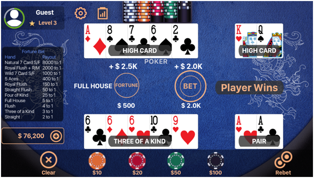 Rules to play Pai Gow Poker Casino App