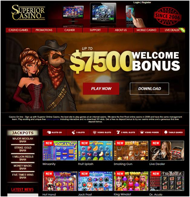 Bonus kasino $ 7500 superior