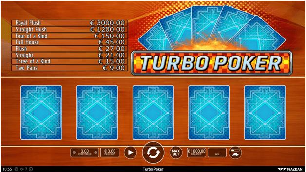Bagaimana cara bermain Turbo Poker online?